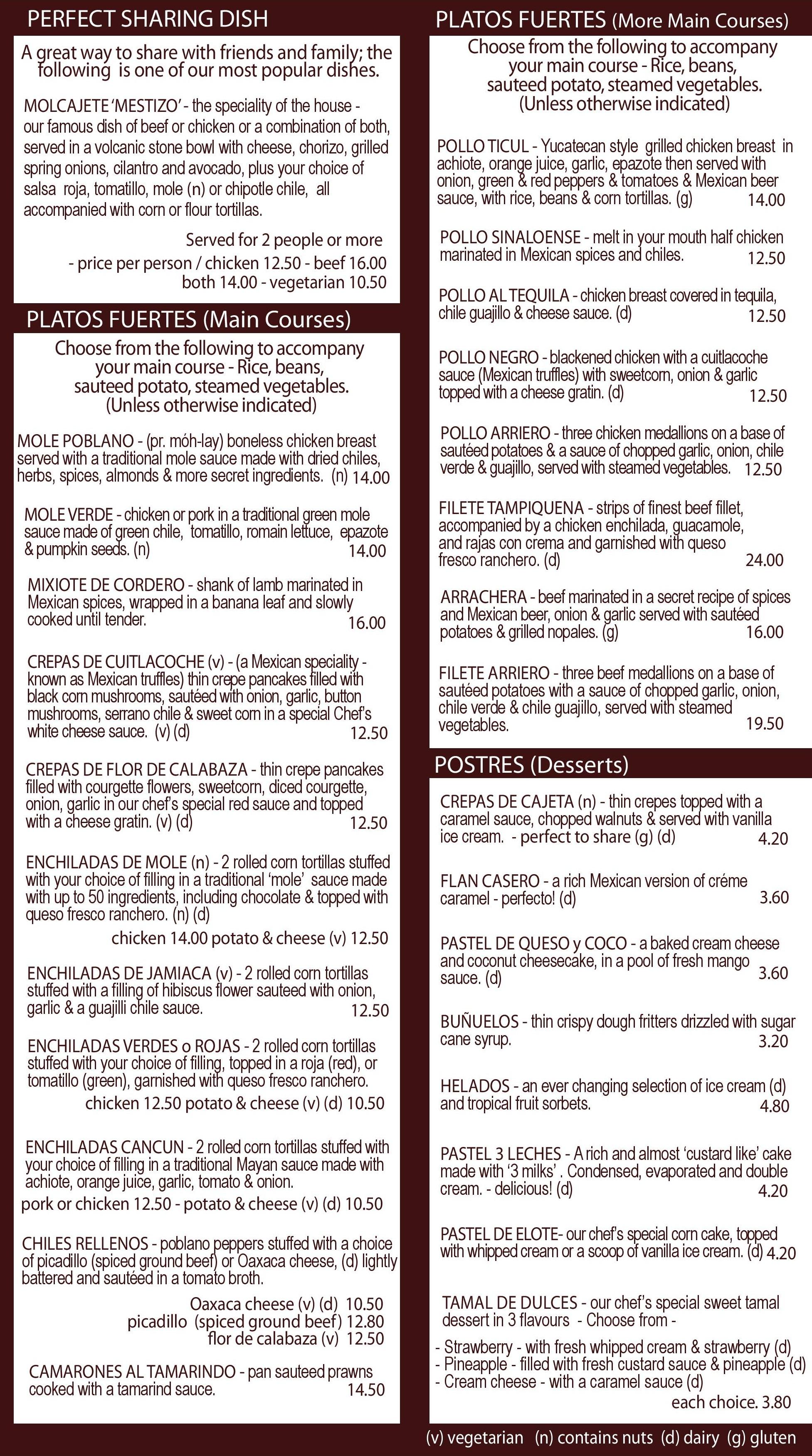 Final menu part 2