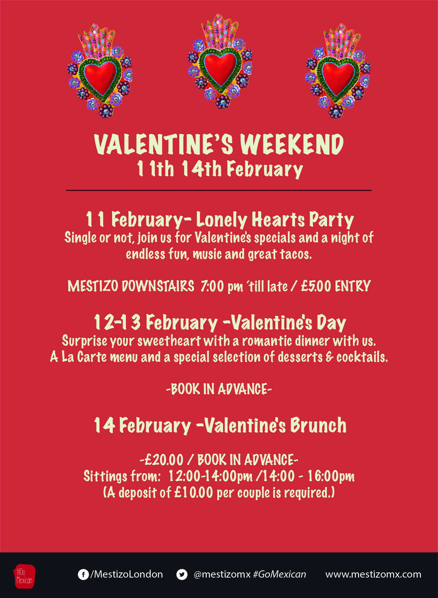 Mestizoupcoming Events Valentine S Day Weekend
